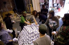 Building the 1200 roll toilet paper pyramid